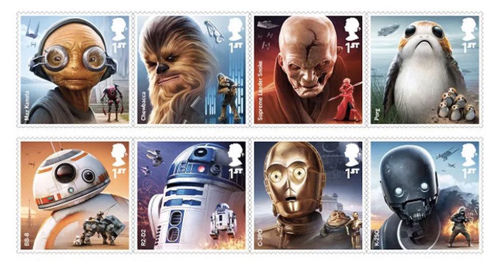 Brittiska postverket släpper Star Wars-frimärken
