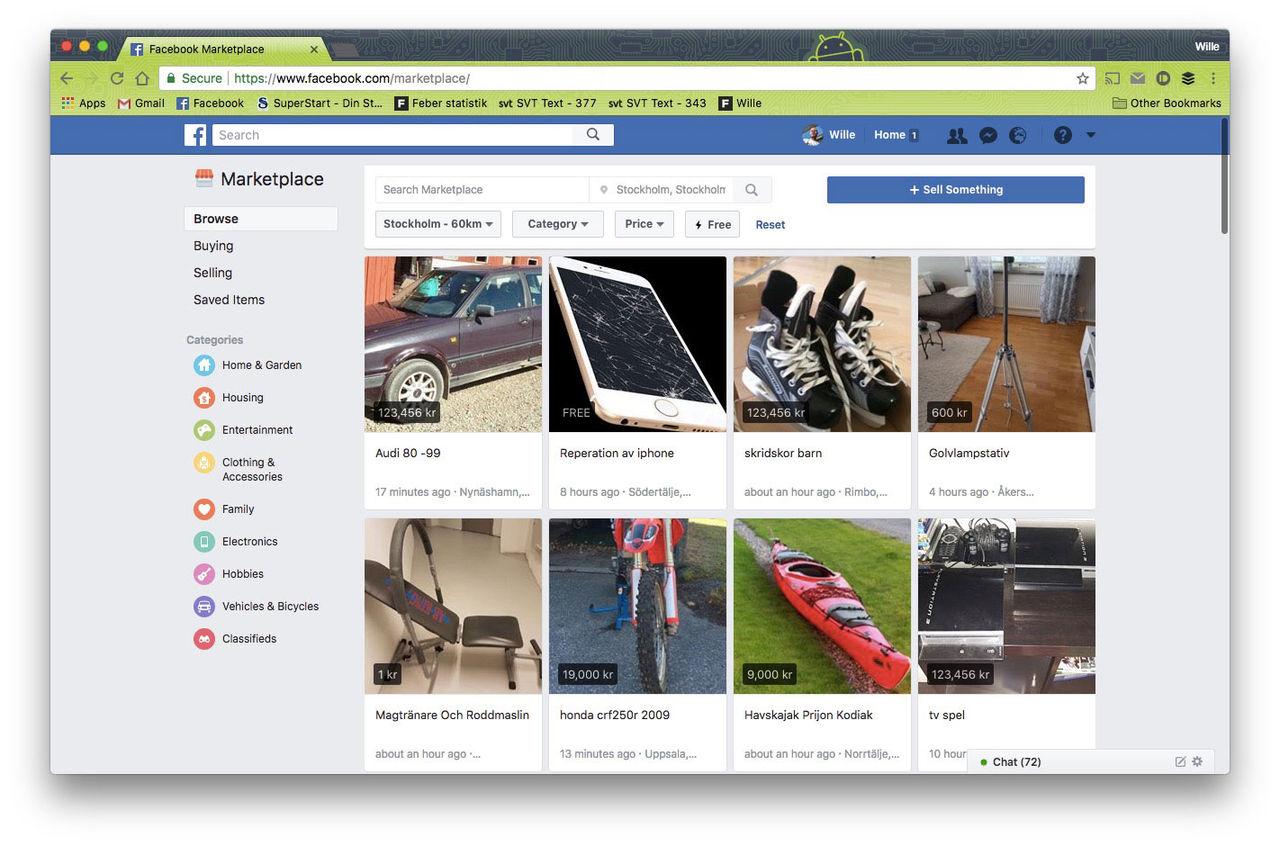 Nu har Facebook Marketplace öppnat upp i Sverige