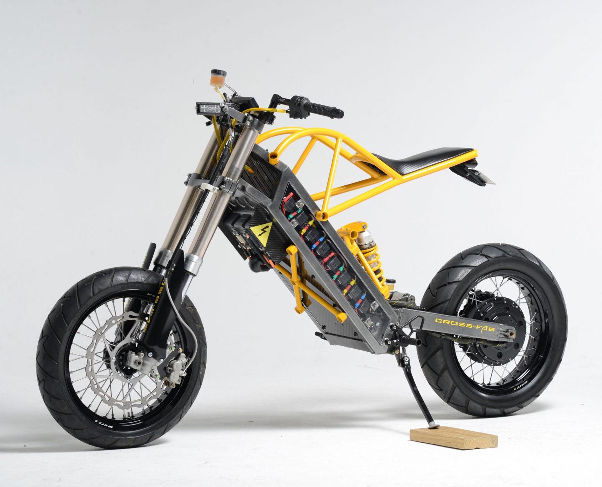 Elektrisk motorcykel framtagen av veterinär