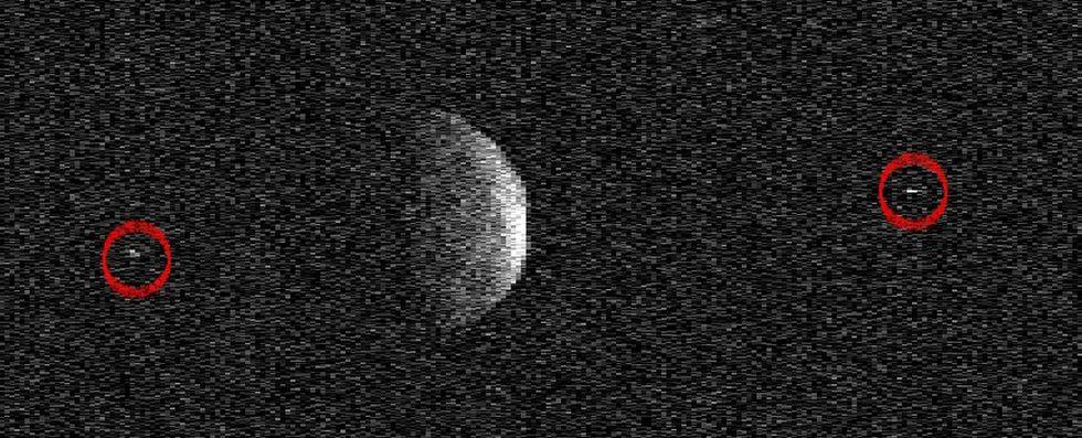 Asteroiden Florence har egna månar