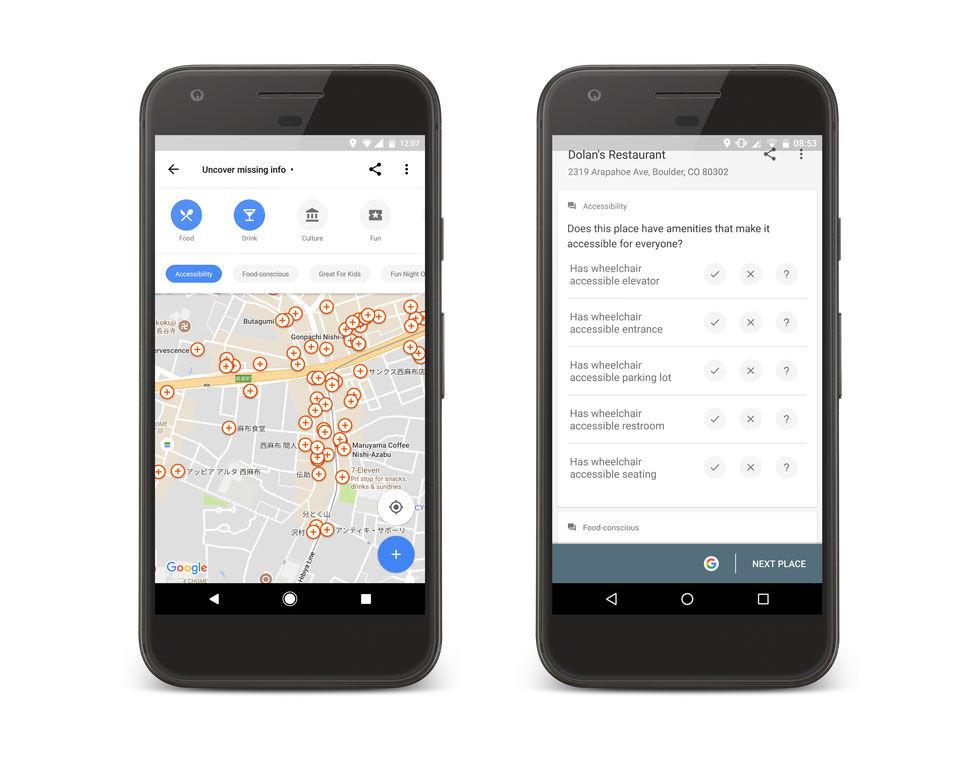Google vill ha hjälp med att göra Google Maps bättre för rörelsehindrade