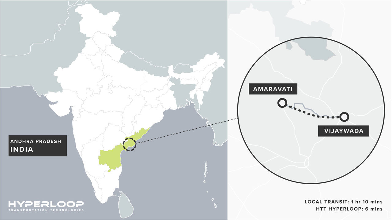 Indien vill också bygga en hyperloop