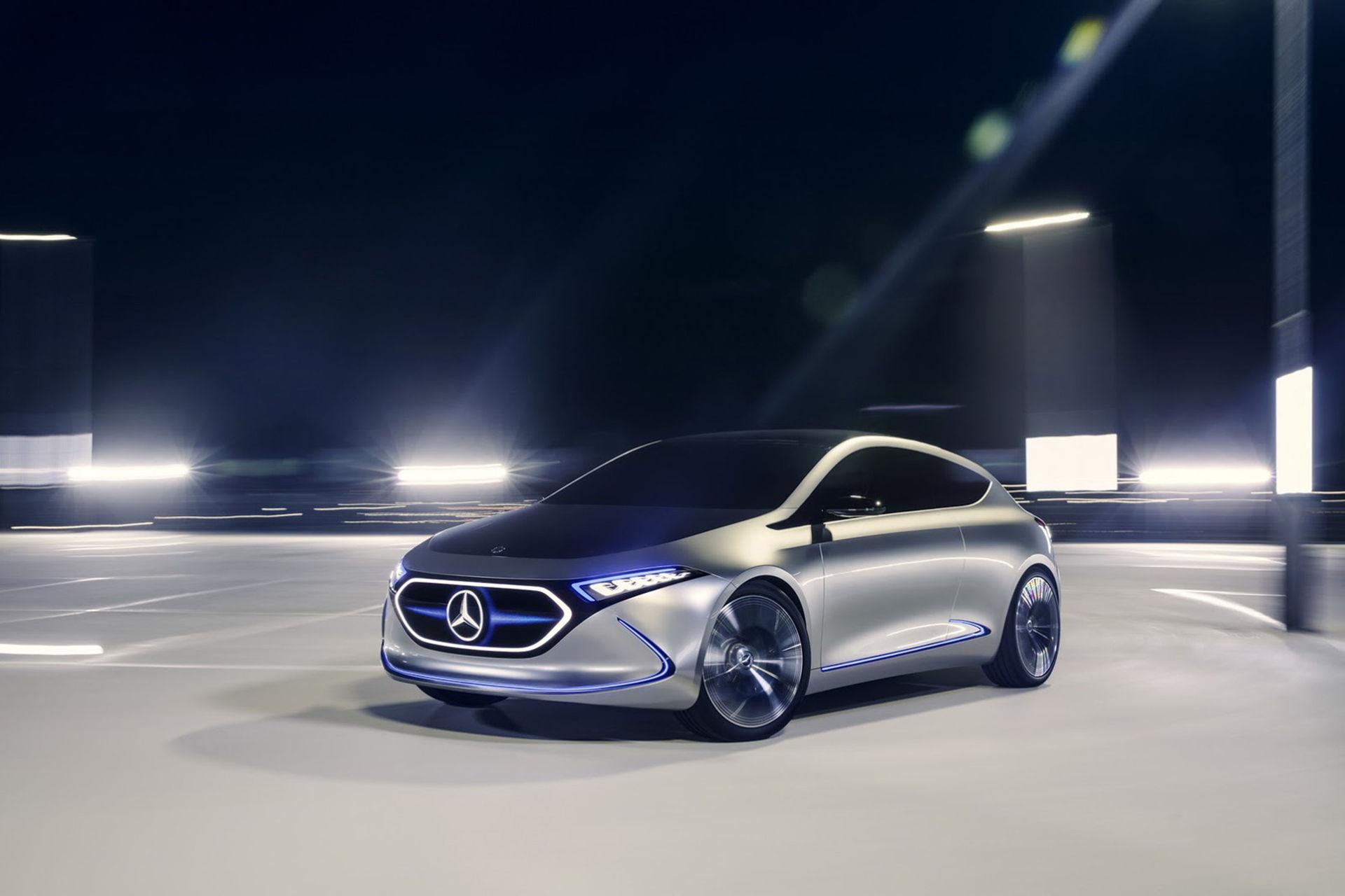 Mercedes Concept EQA tar sig 40 mil på en laddning