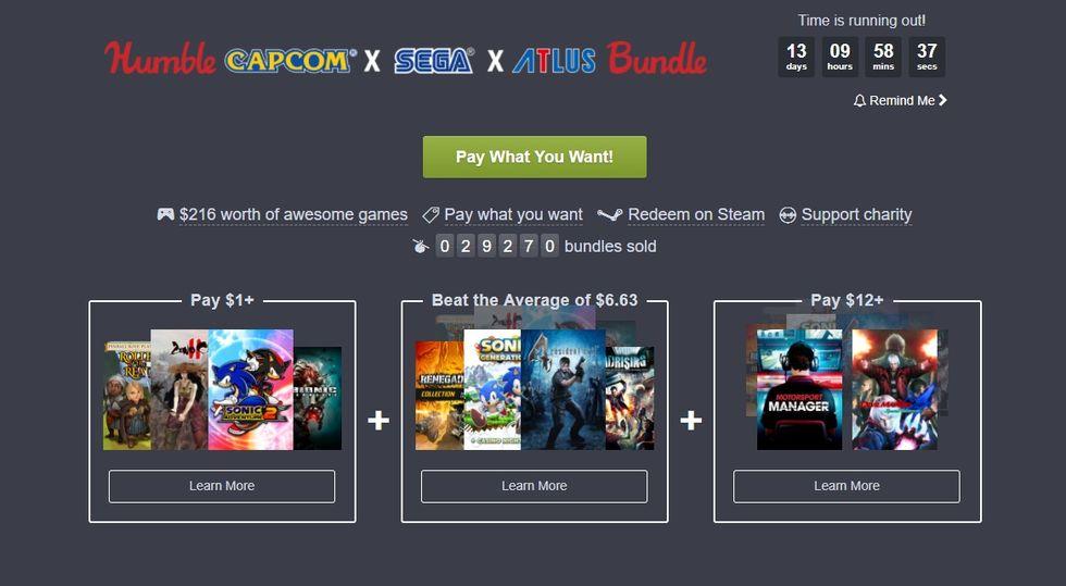 Fynda spel från Capcom, Sega och Atlus i ny Humble Bundle