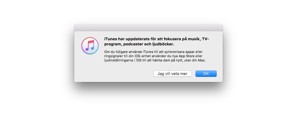Stor uppdatering till iTunes