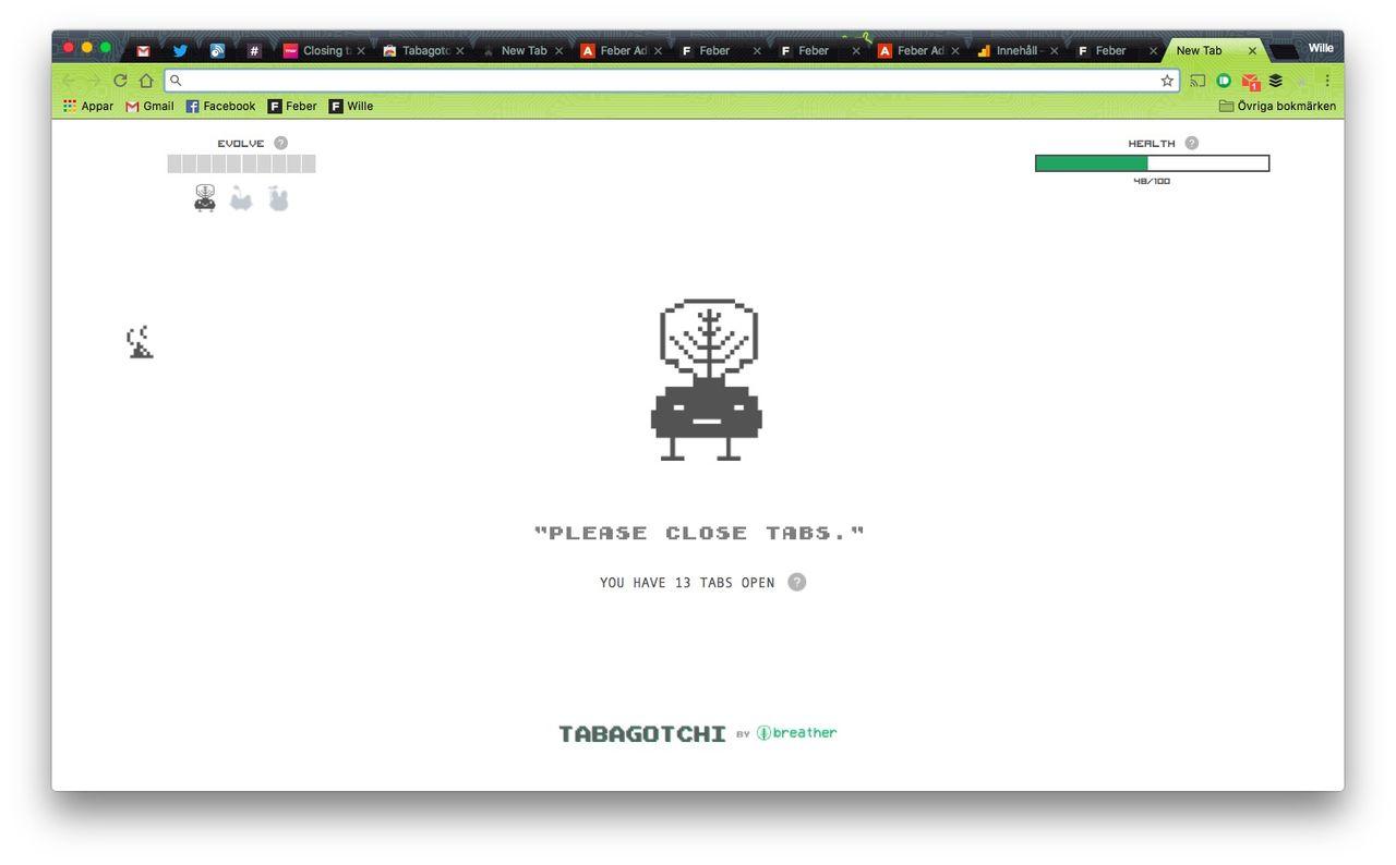 Skaffa en tamagotchi till webbläsaren