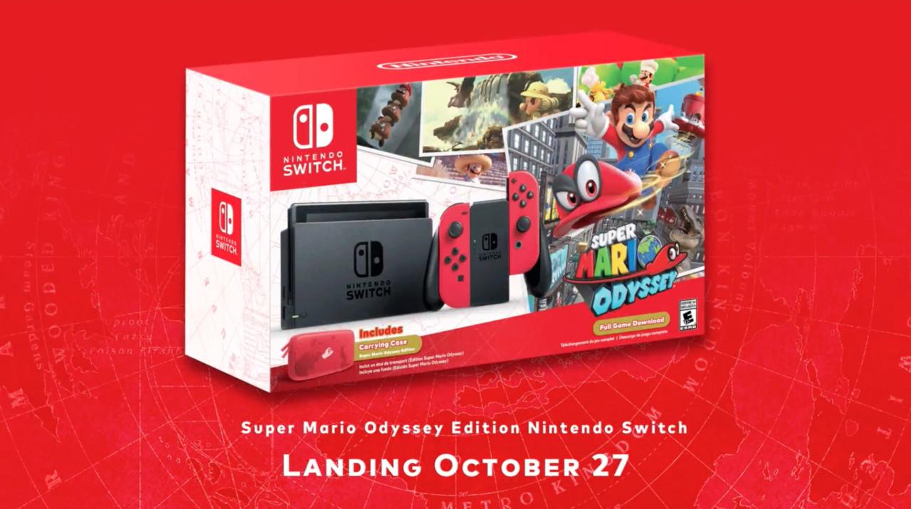 Nintendo släpper ny Switch med Super Mario Odyssey-tema
