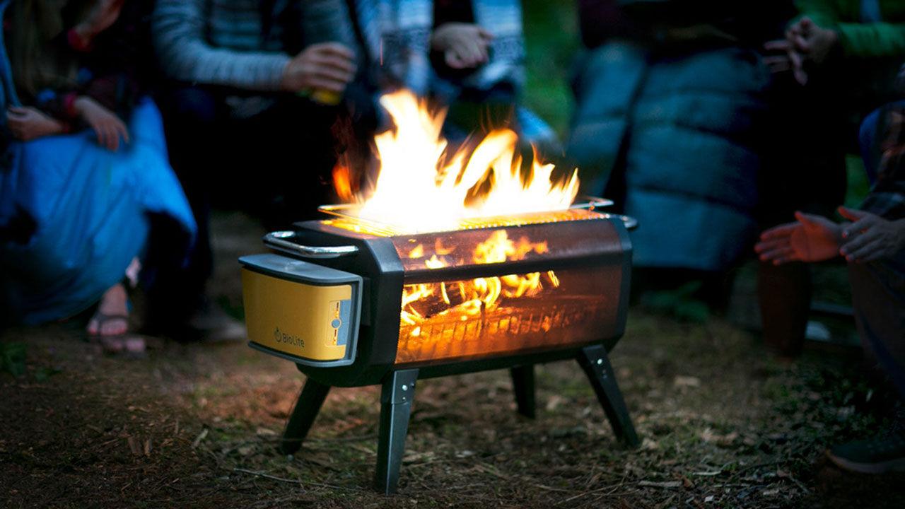 Liten portabel grill med hibachi-funktion
