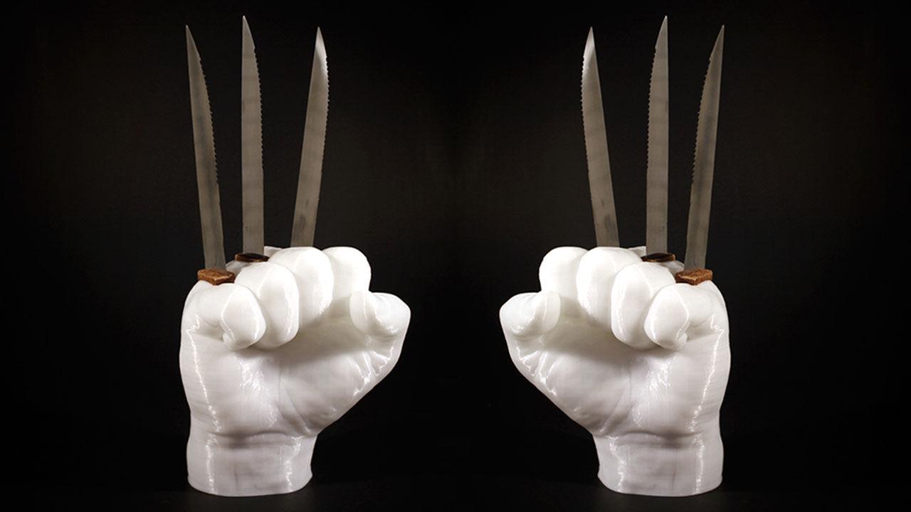 Knivställ i Wolverine-stil