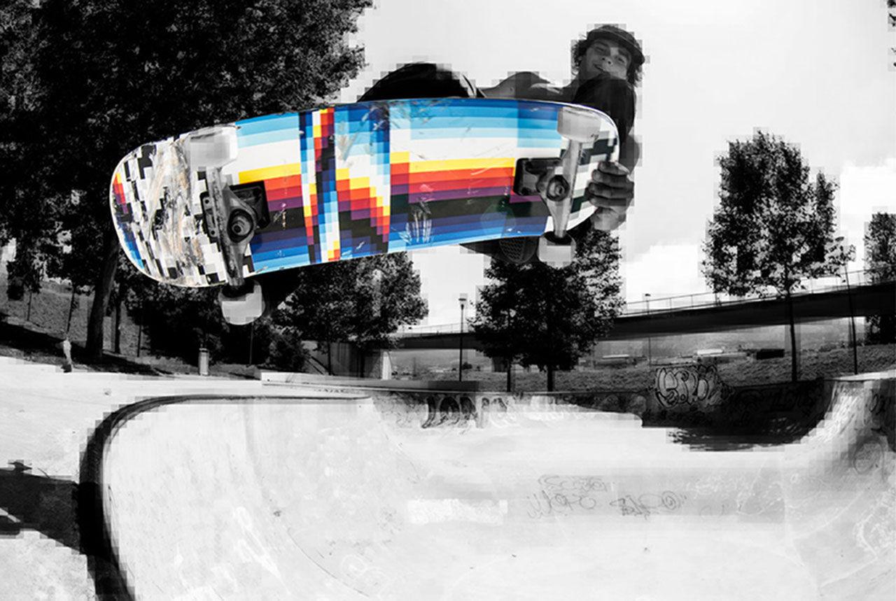 Skateboards designade av Felipe Pantone