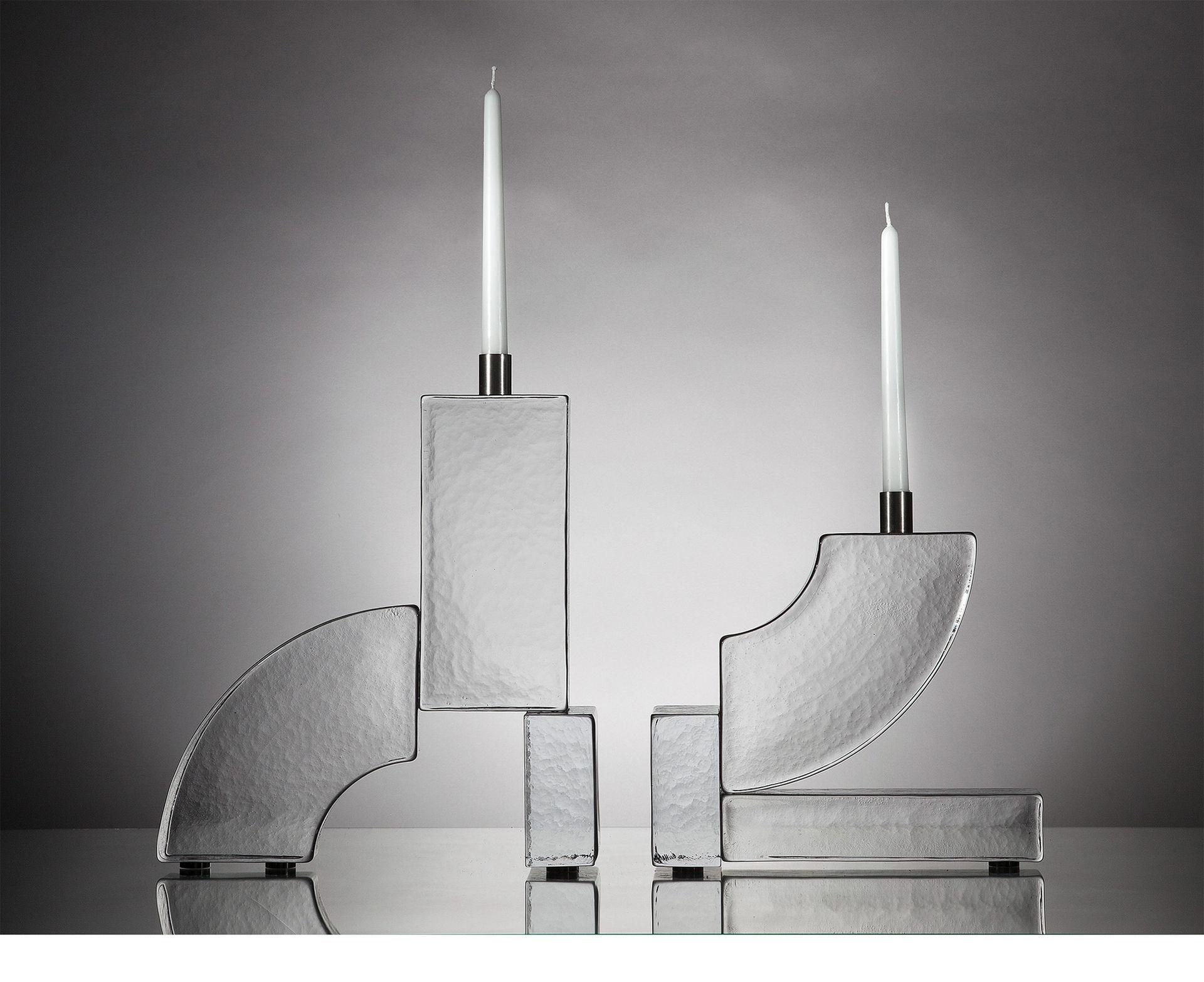 Ljusstakar med inspiration från tegelstenar