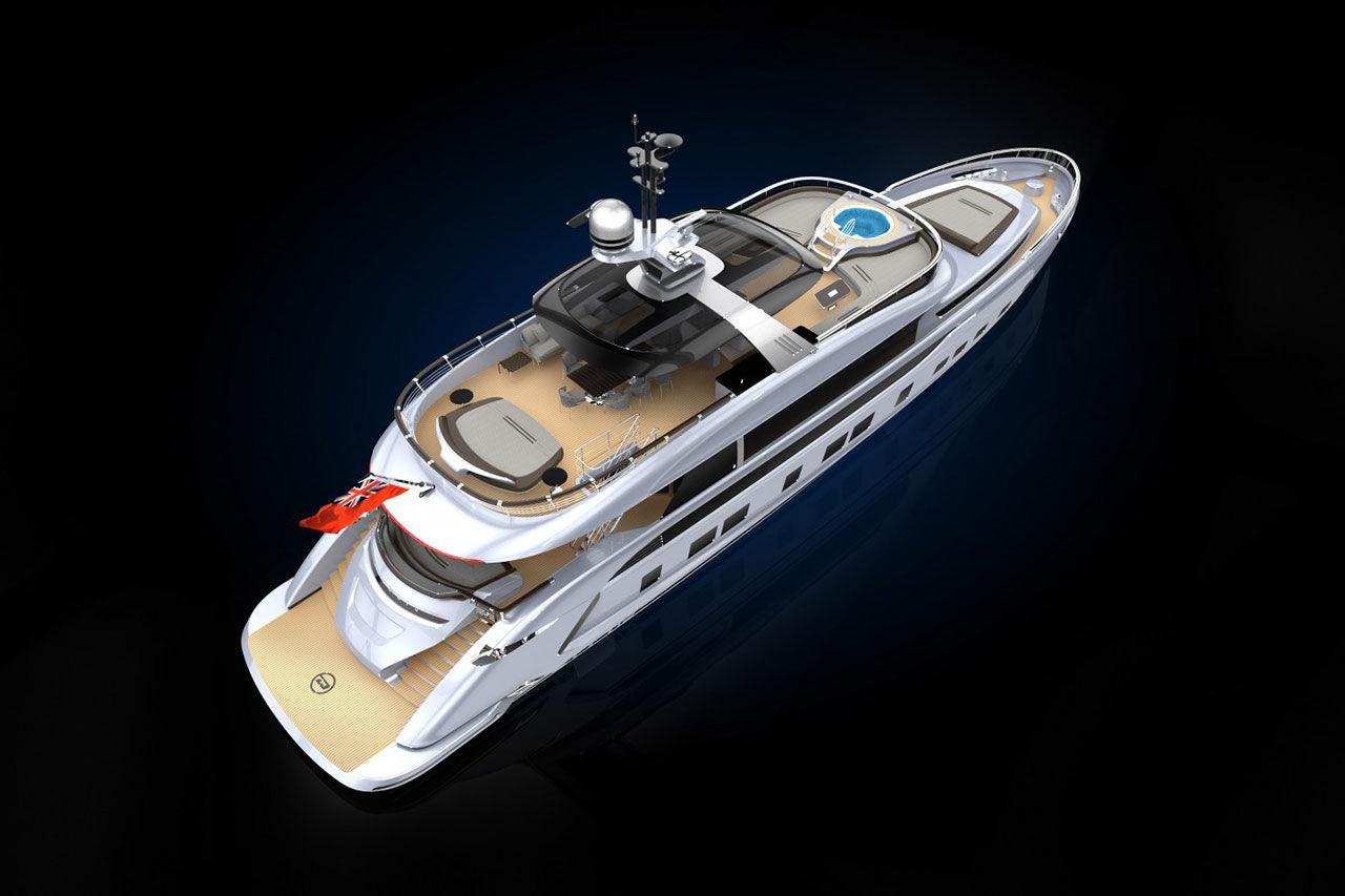 Porsche-yachten visas på Monaco Yacht Show