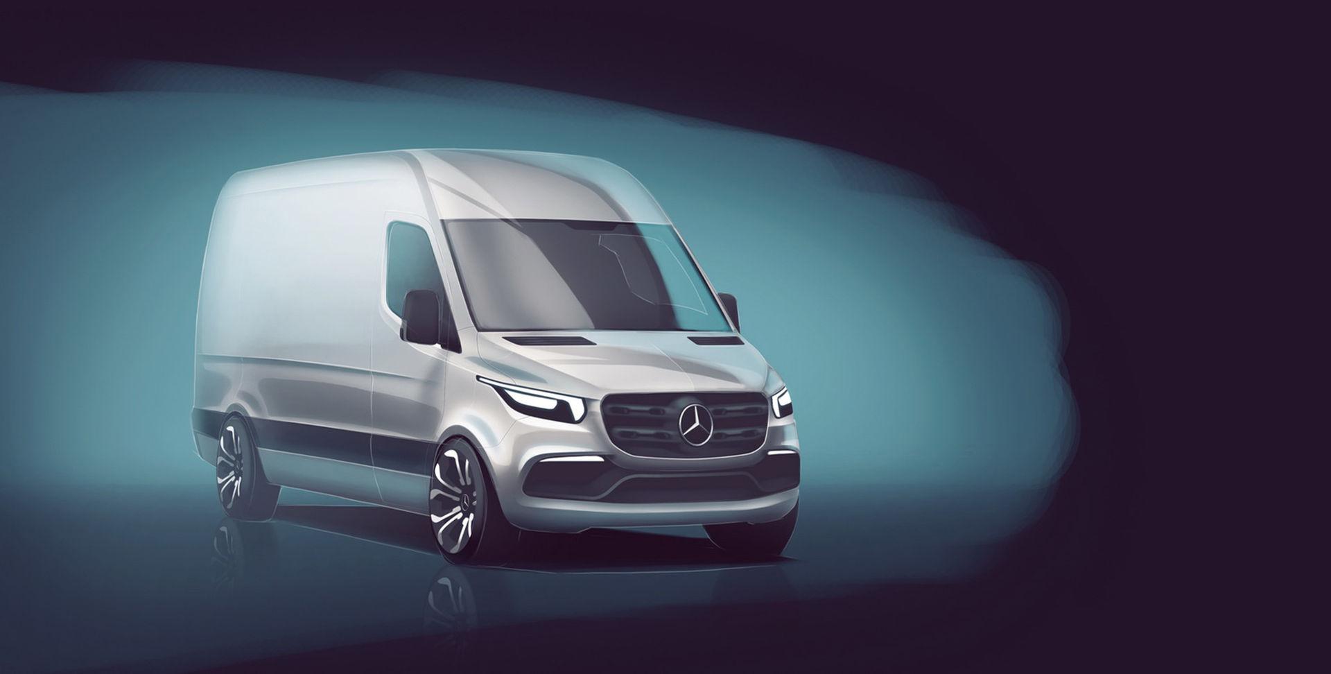Första bilden på nya Mercedes Sprinter