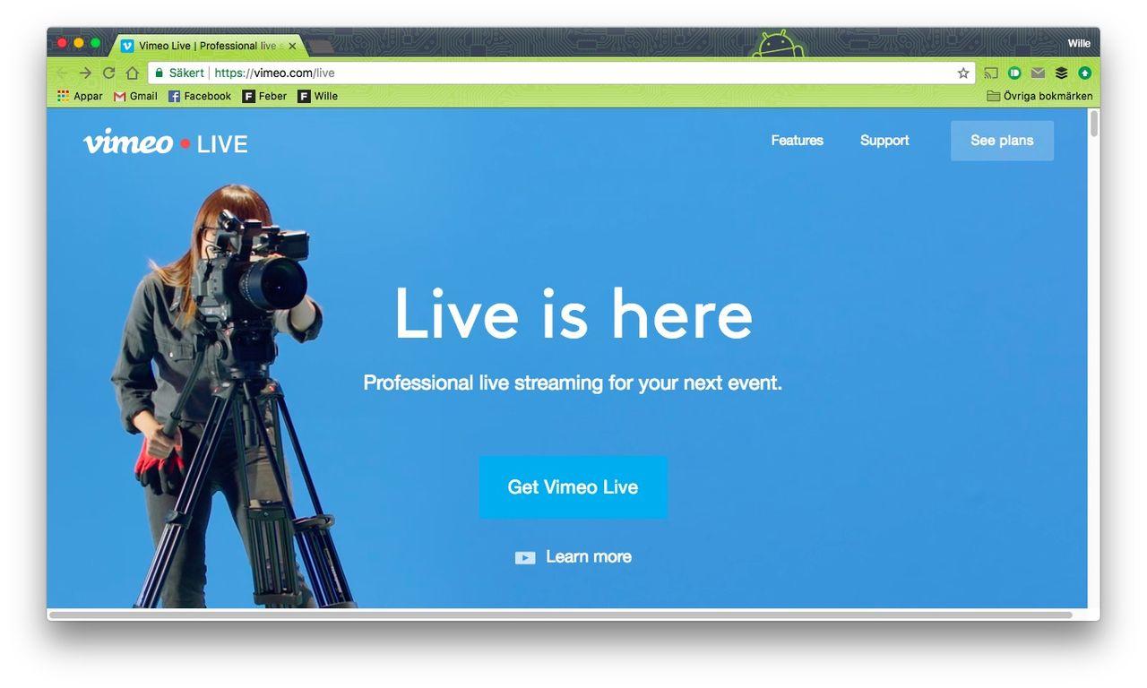 Vimeo lanserar Vimeo Live