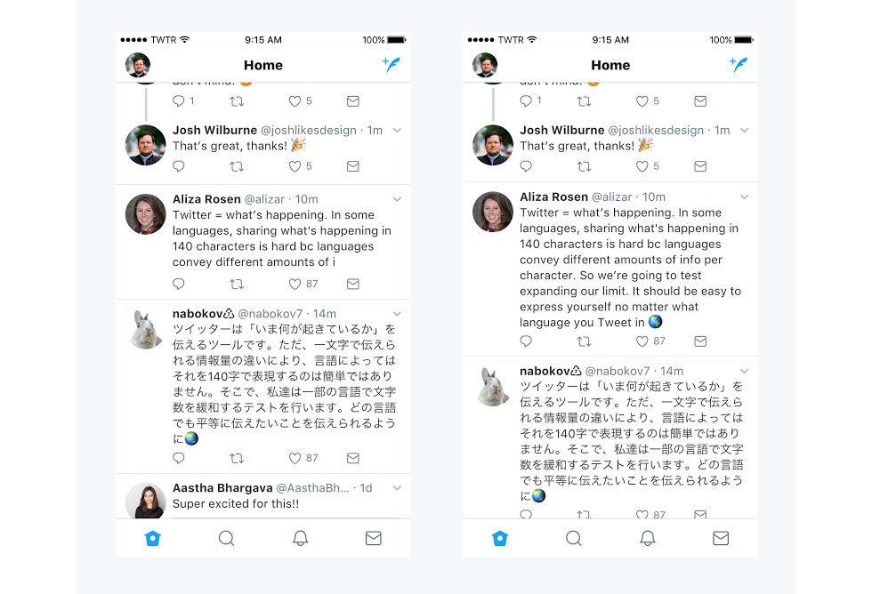 Twitter testar tweets med 280 tecken