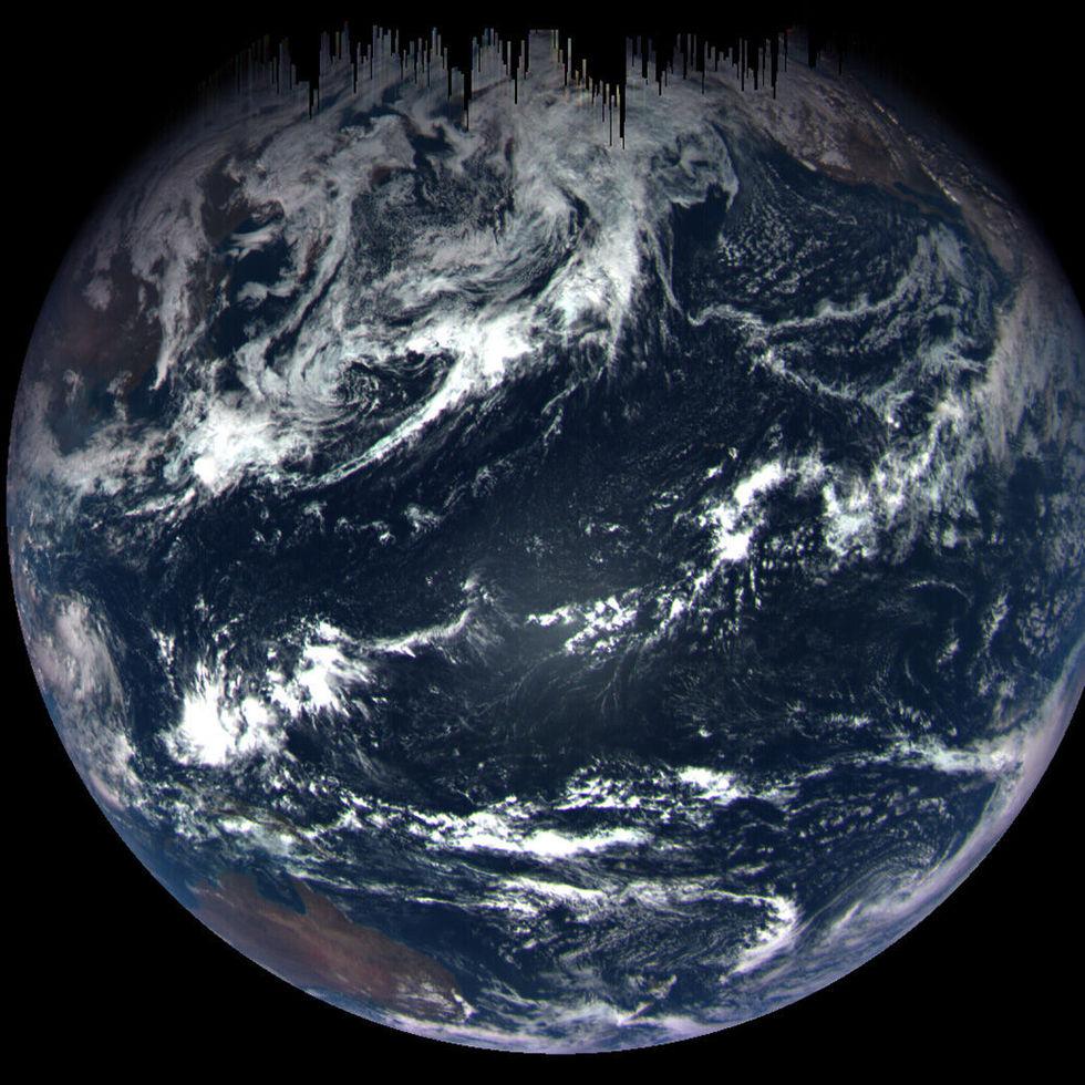 Rymdfarkost har skickat hem en fin bild på jorden
