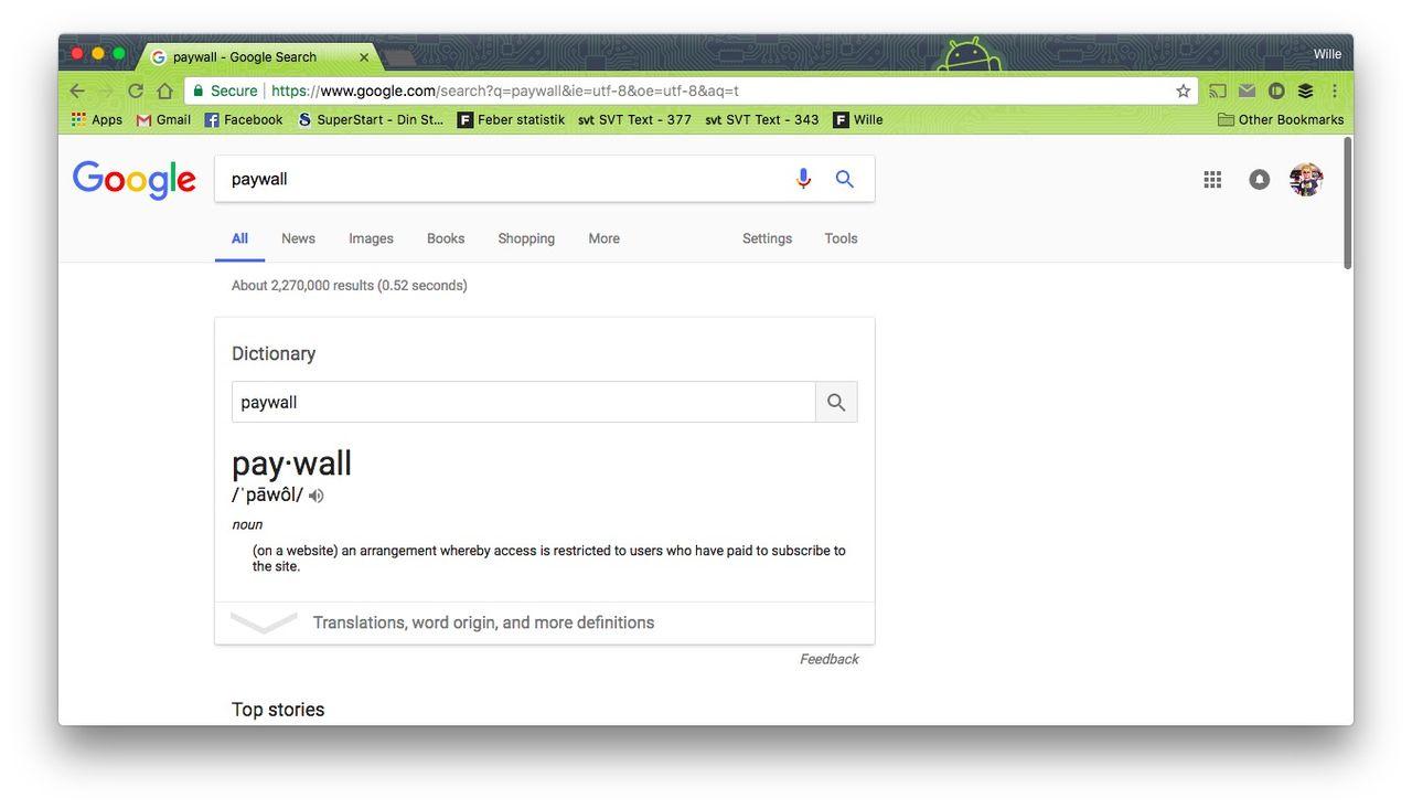 Google skrotar krav på gratisartiklar från publicister