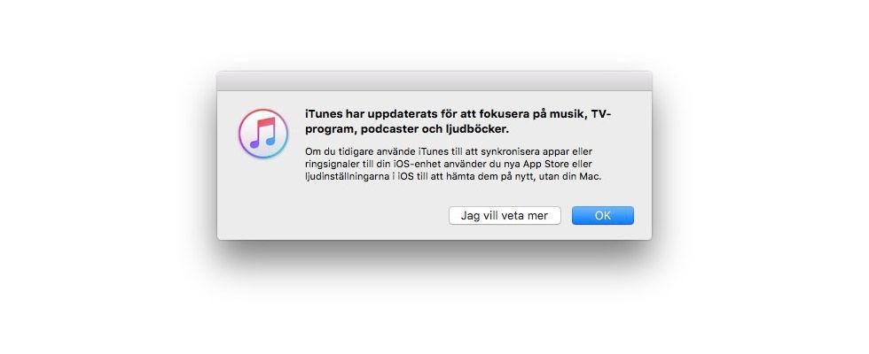 Apple släpper iTunes-version där App Store är tillbaka
