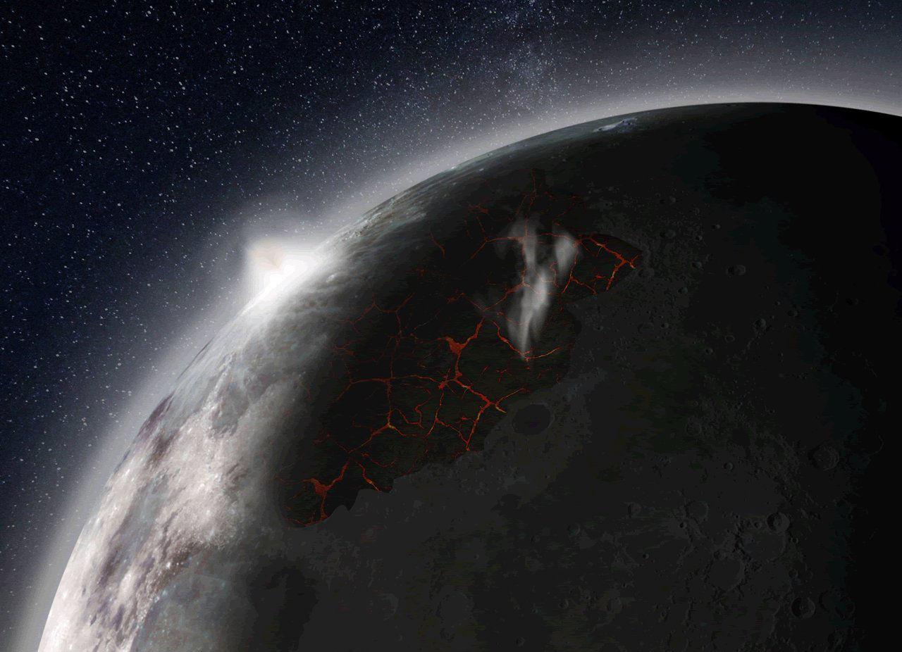 Månen har haft en egen atmosfär
