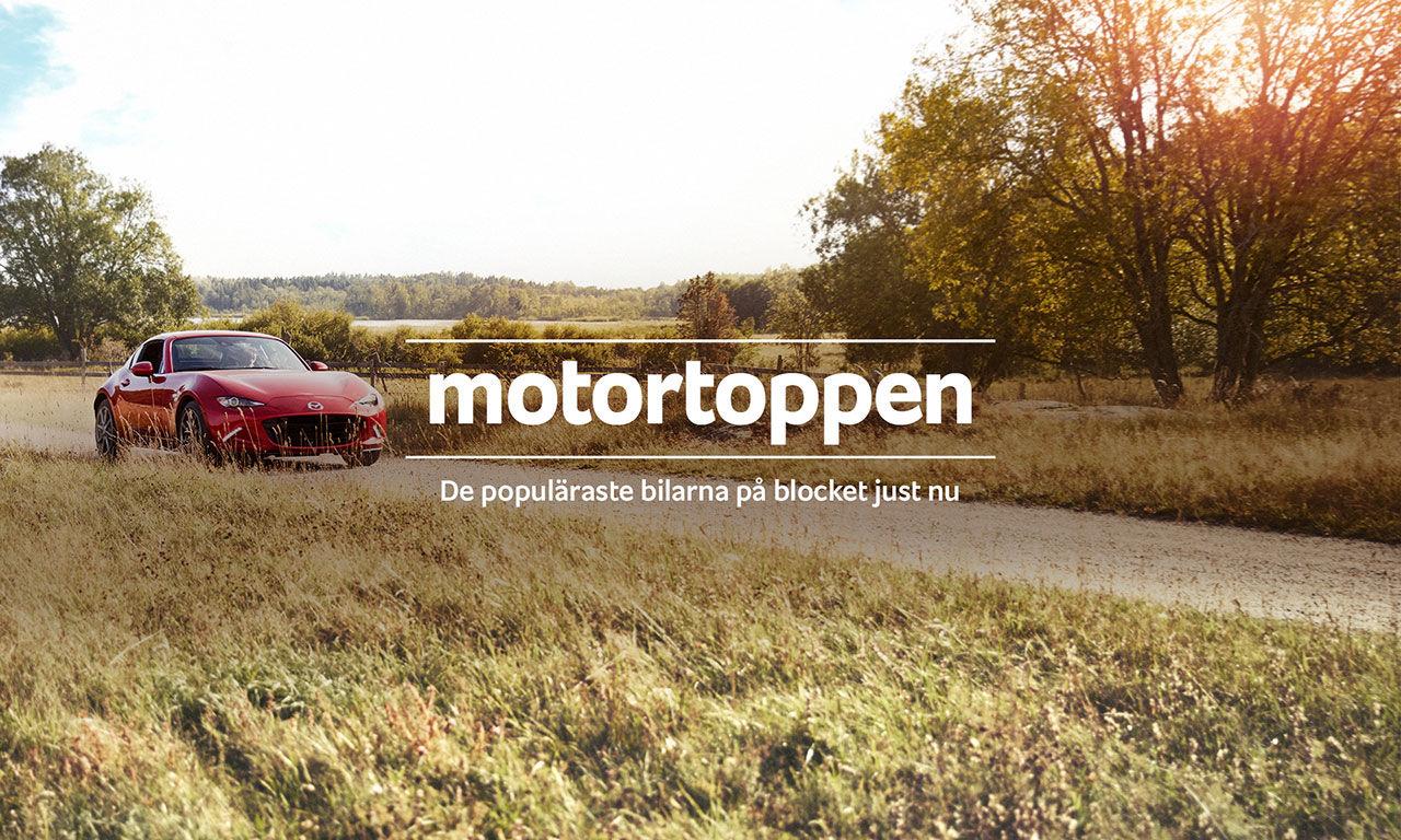 Blocket Motortoppen listar de populäraste bilarna just nu