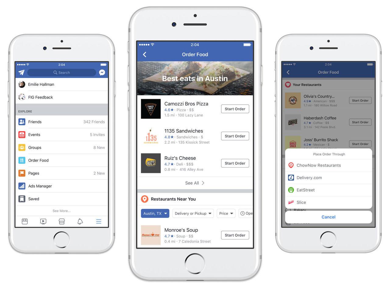Nu kan du beställa mat via Facebook