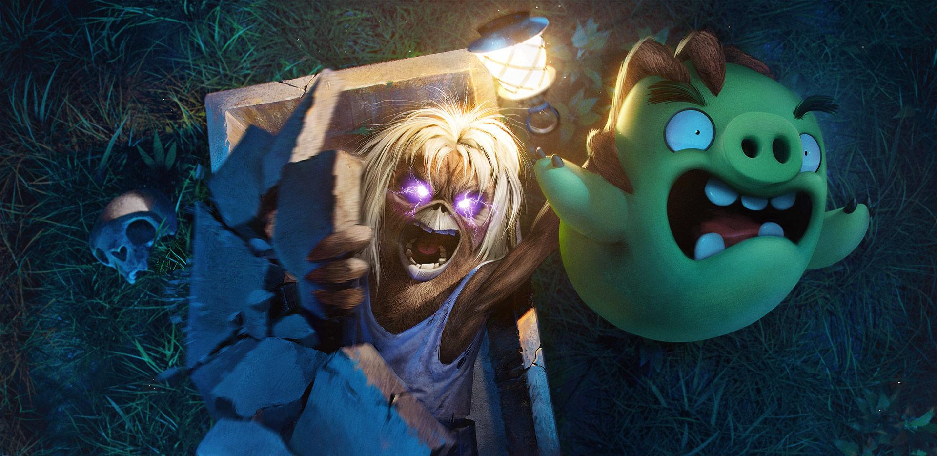 Iron Maidens maskot Eddie dyker upp i Angry Birds