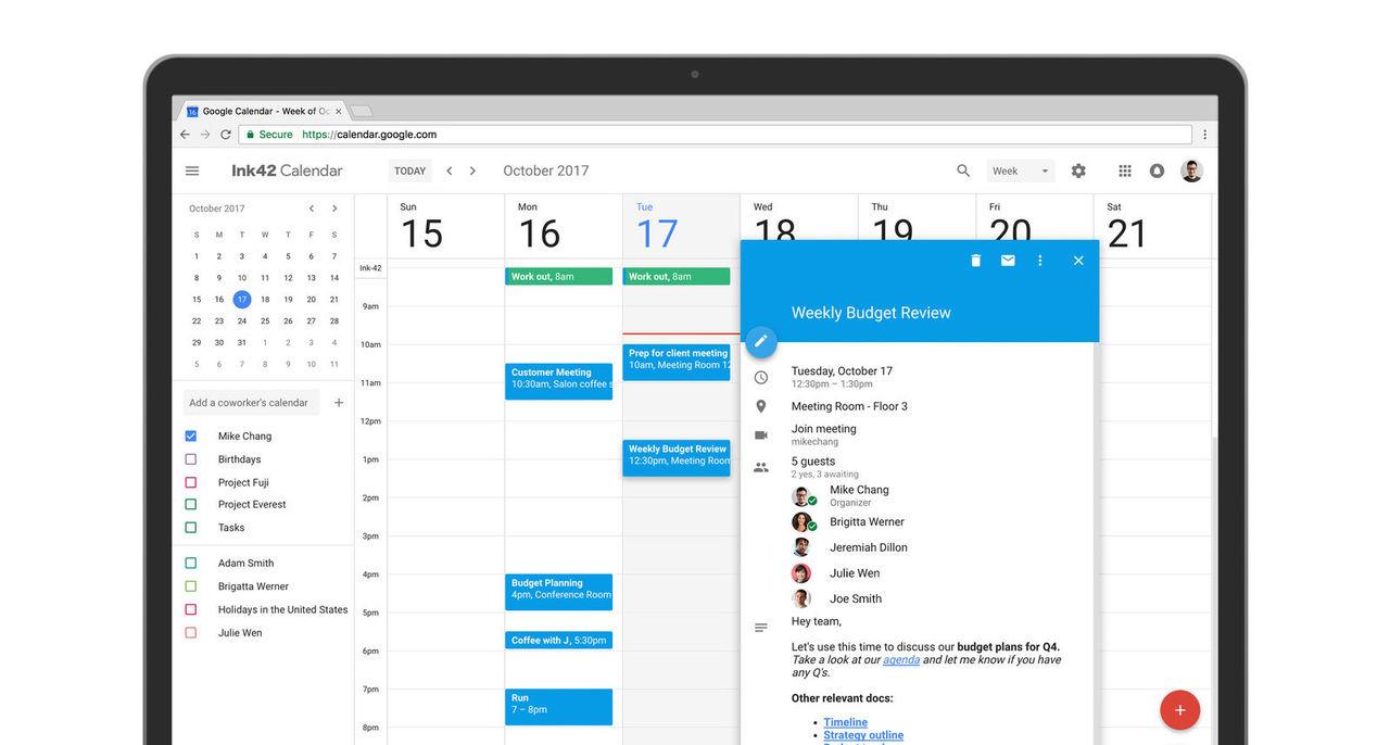 Google Calendar har fått nytt utseende