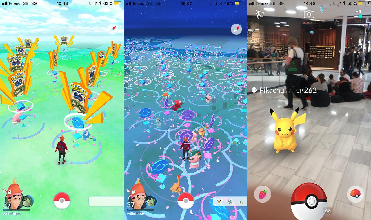 4000 personer besökte Sveriges första Pokémon Go-fest