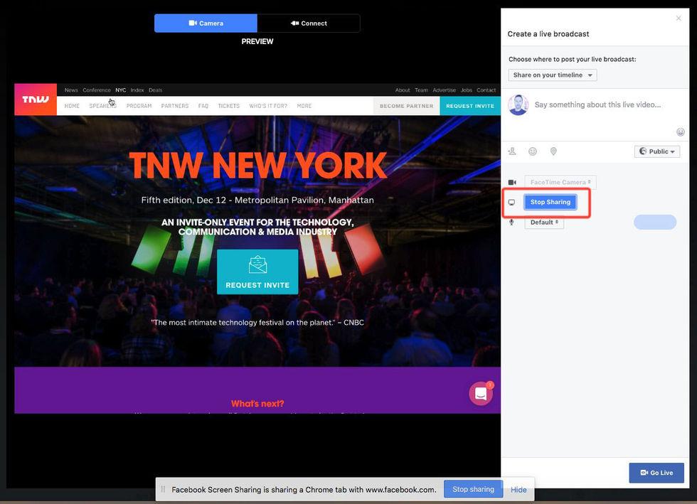 Nu kan man live-strömma sin skärm på Facebook