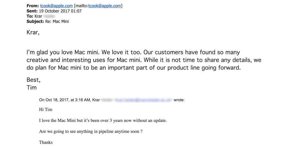Mac Minin kommer att uppdateras