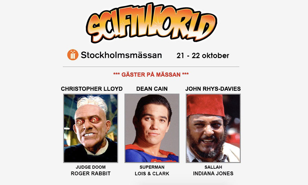 SciFi World i Stockholm till helgen