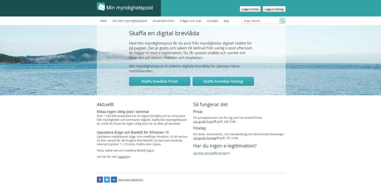 Svenskar sämst i Skandinavien på digitala brevlådor