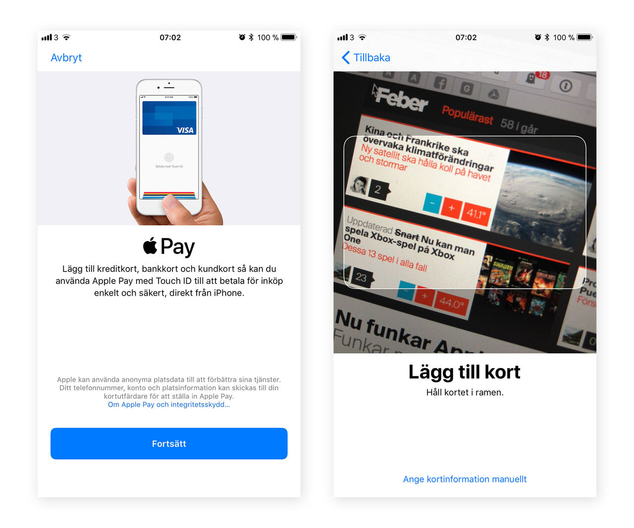 Nu funkar Apple Pay i Sverige!