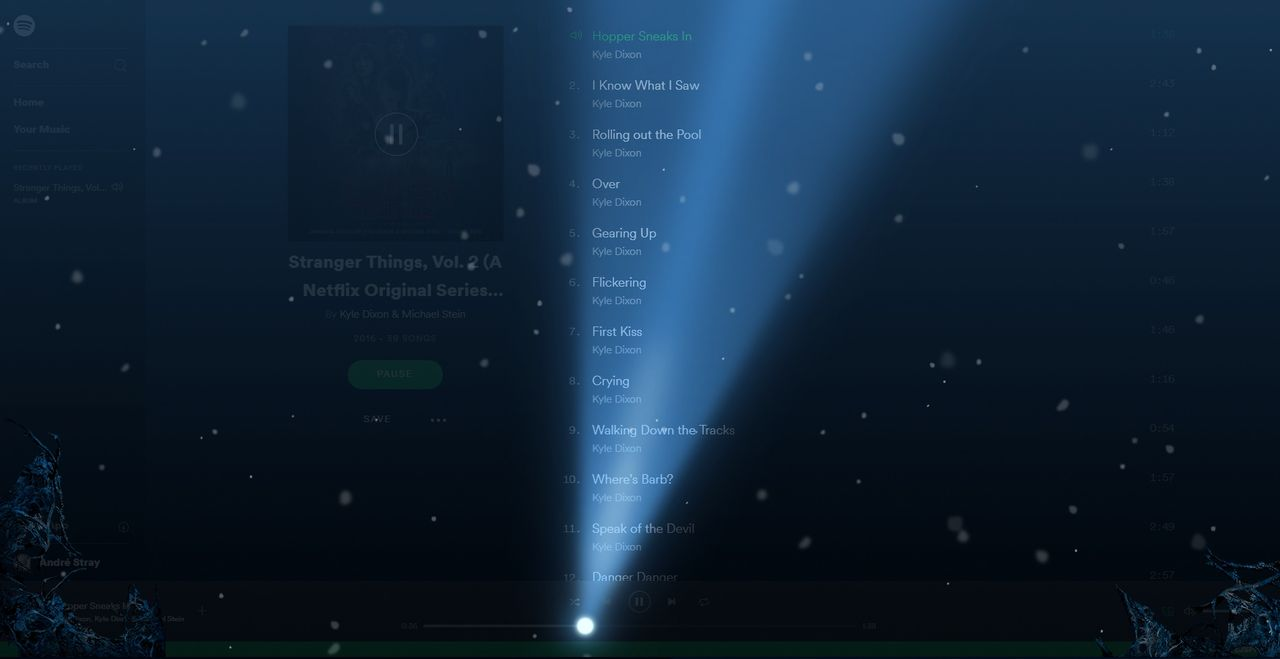 Spotify gömmer Stranger Things-påskägg i webspelaren