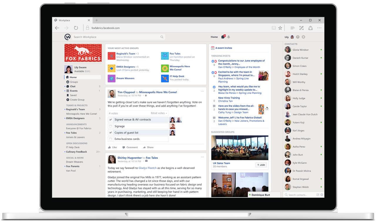 Nu är Facebooks Workplace Chat tillgänglig för alla