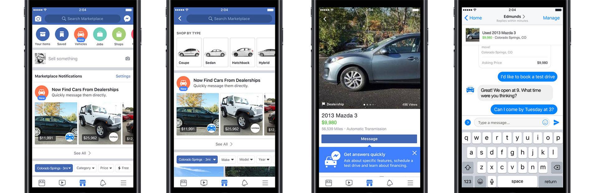 Nu flyttar bilhandlarna in i Facebook Marketplace
