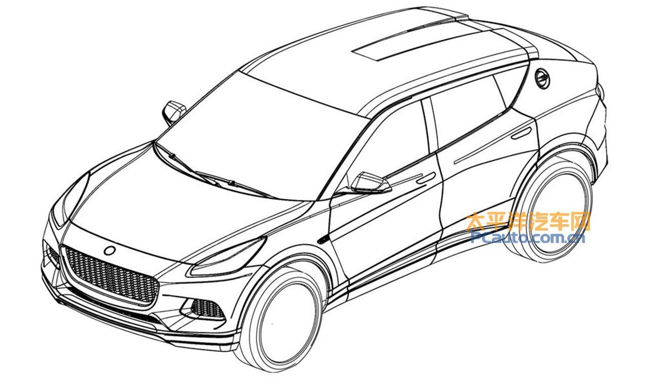 Patentritningar på Lotus SUV