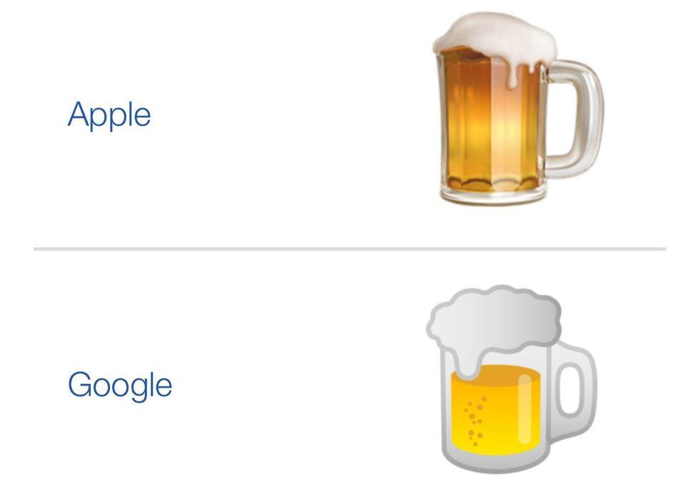 Google dissas även för sin öl-emoji