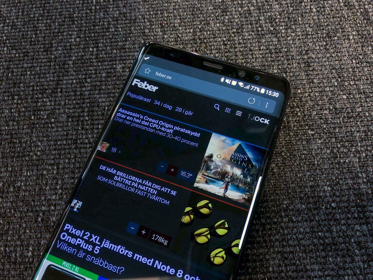Samsungs egna webbläsare får nattläge