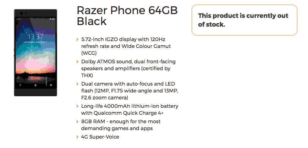 Specifikationer läckta för Razer Phone