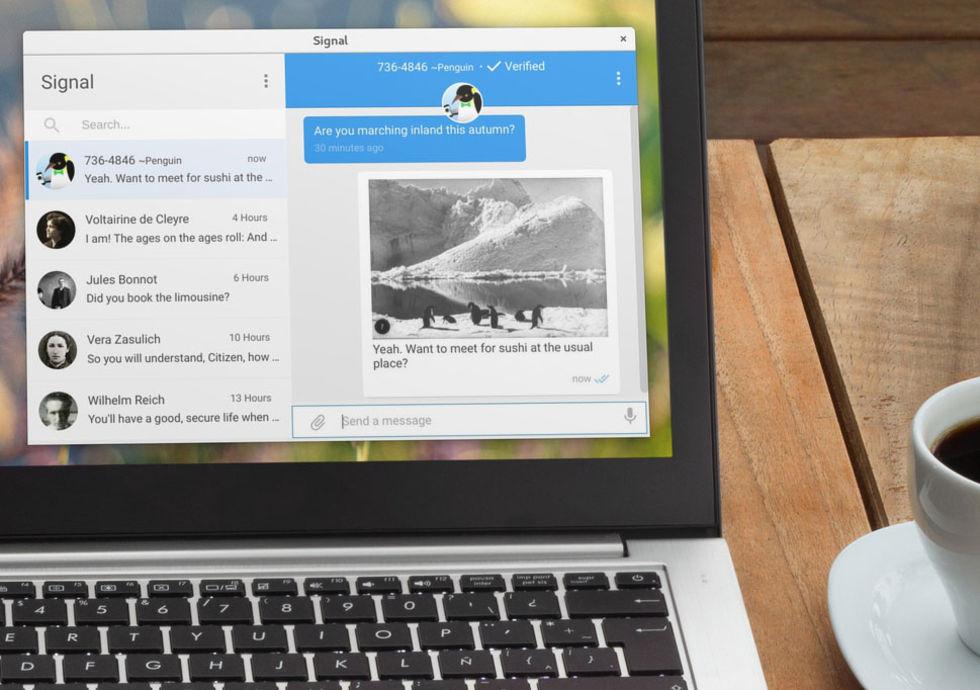 Chattappen Signal släppt som app till datorn