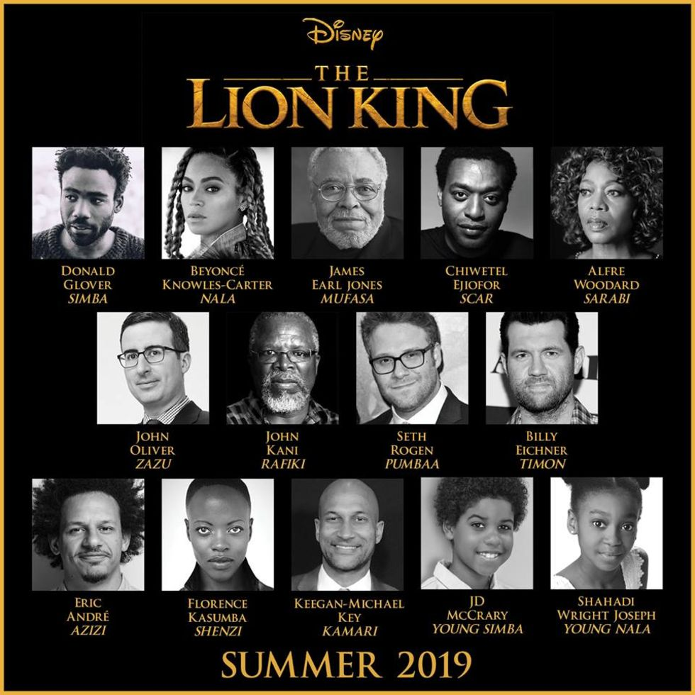Beyoncé får rollen som Nala i Lion King