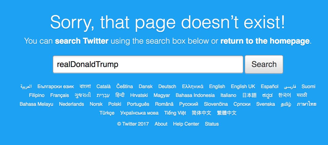Twitter plockade ner Donald Trumps Twitter