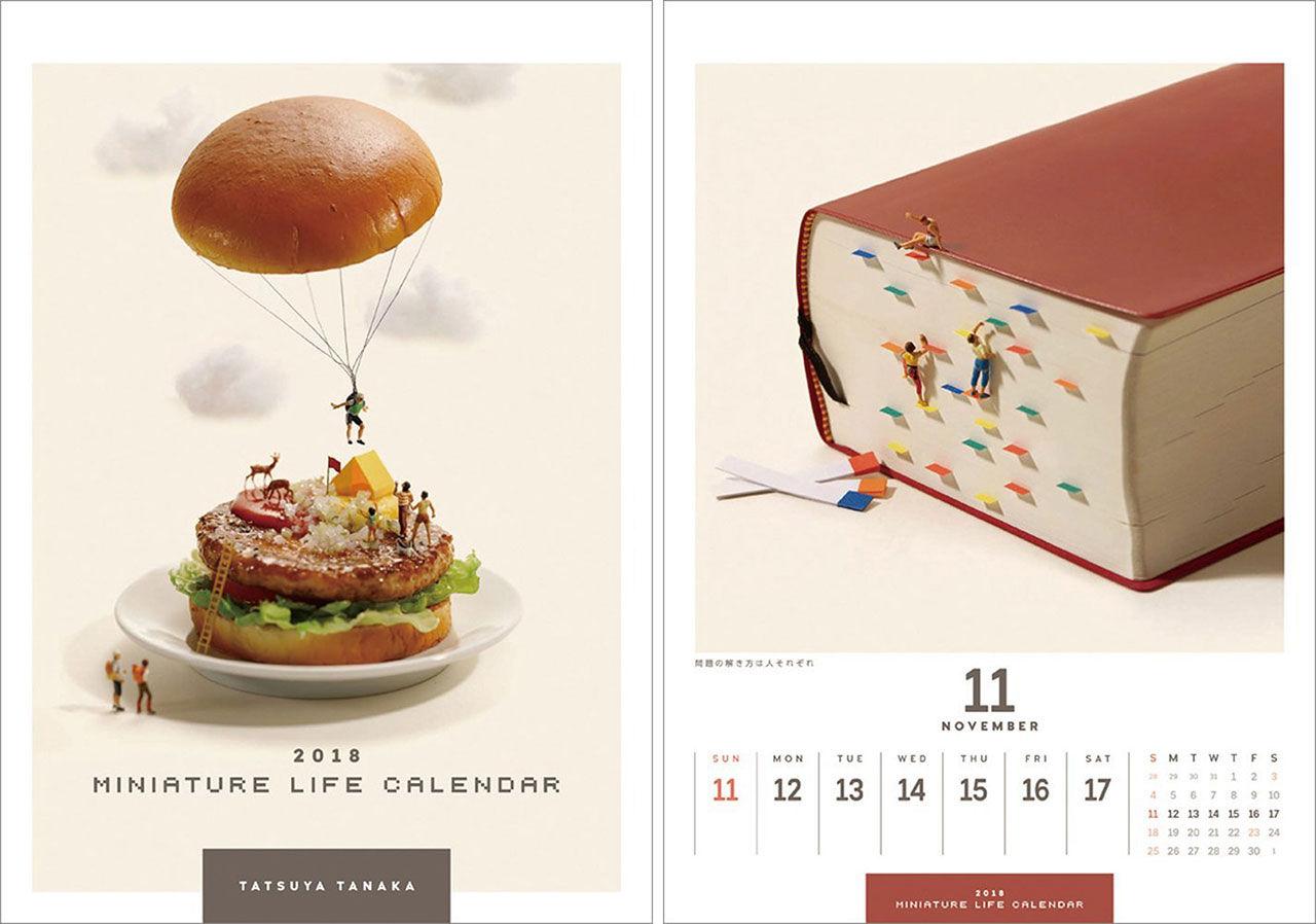 Kalender med en hel miniatyrvärld