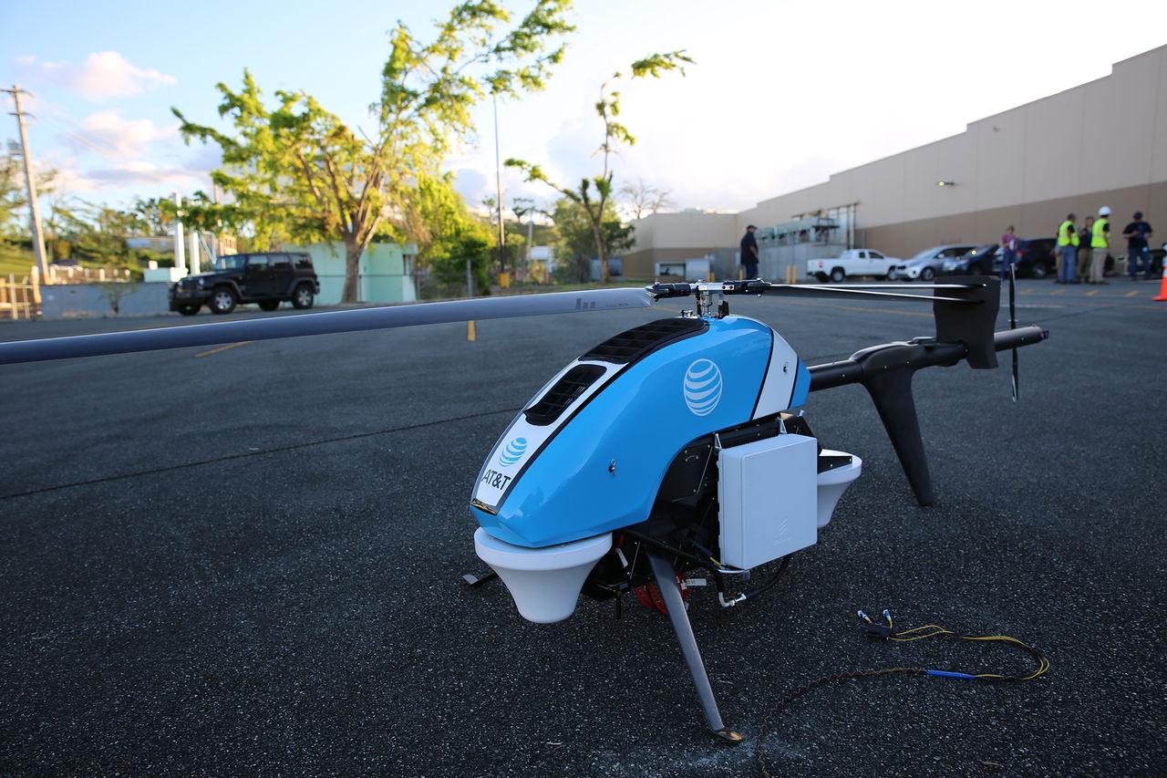 Flygande kon levererar mobilnät i Puerto Rico