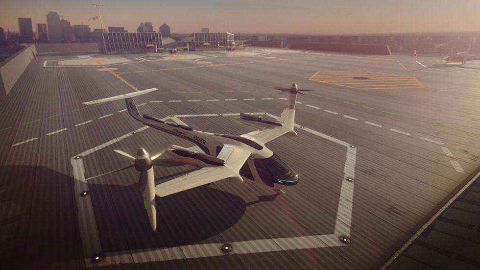 Uber siktar på att ha flygande taxi i luften till 2020