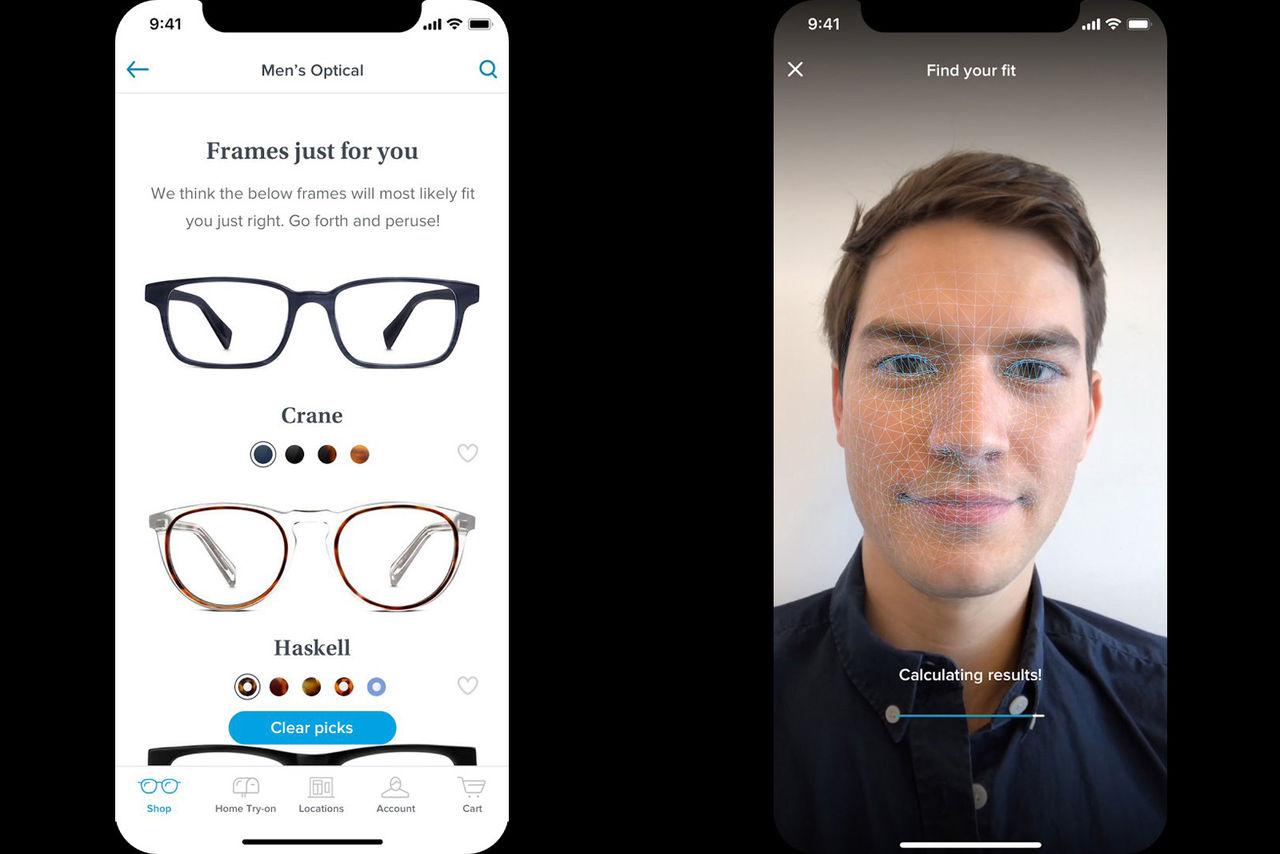 Glasögonföretag använder iPhone X för att hitta rätt glasögon
