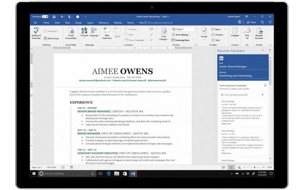 LinkedIn flyttar in i Microsoft Word