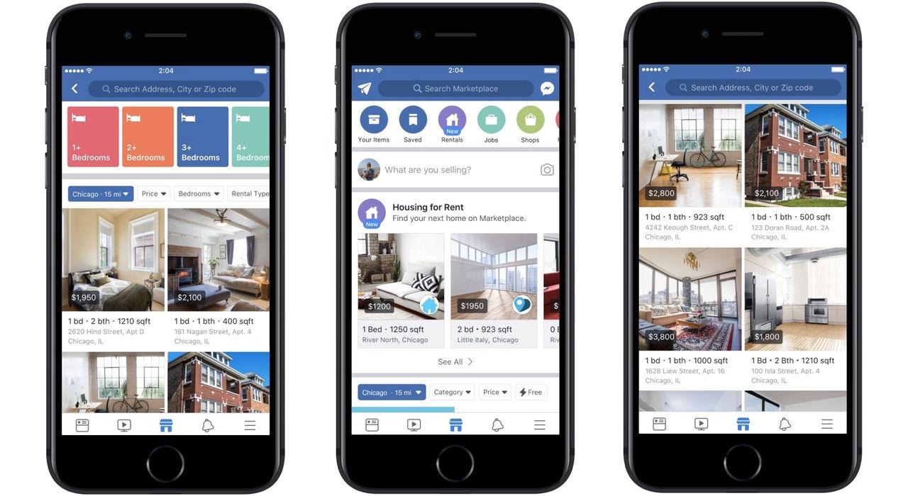 Facebook Marketplace börjar med bostäder