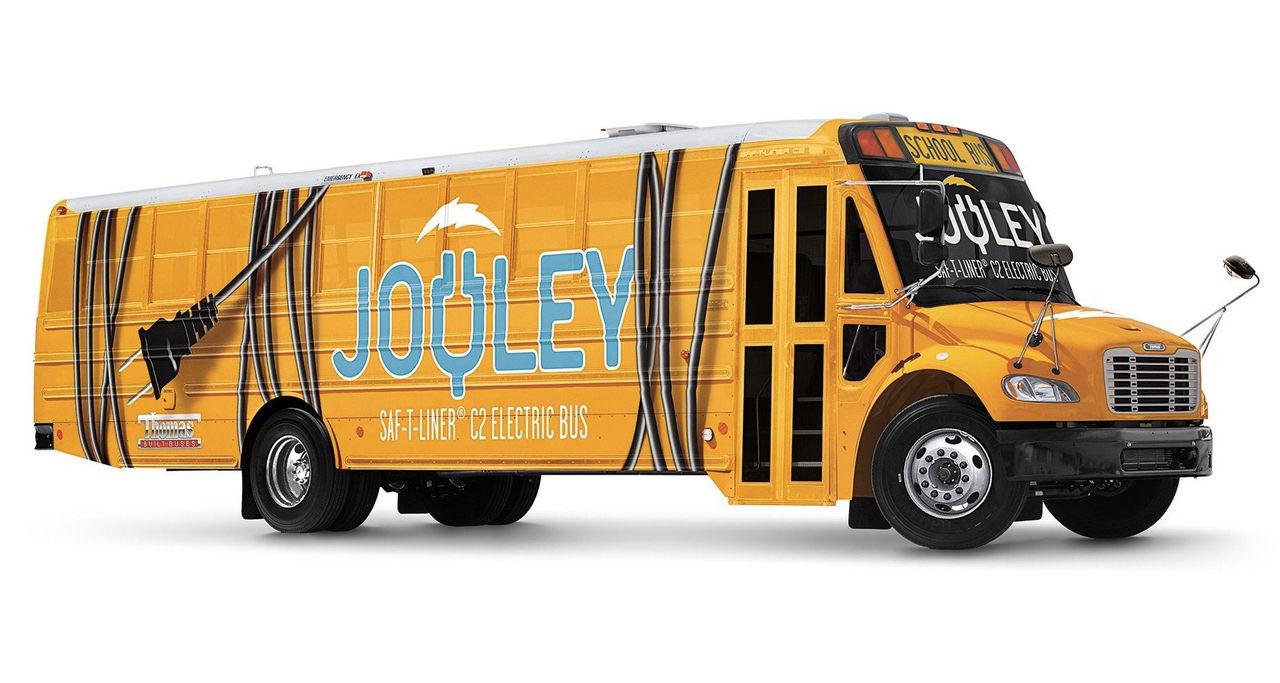 Jouley är en eldriven skolbuss